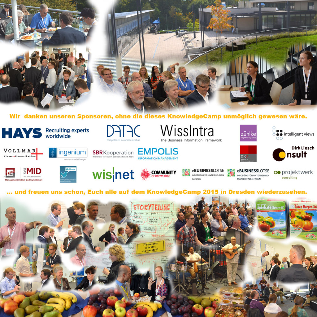 Collage zum KnowledgeCamp 2014